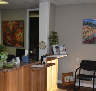 Front desk at the South Main Dental